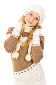 Free Teen Girl In A Cap Stock Photography - 28138972