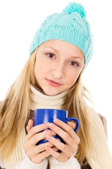 Free Portrait Of A Girl In A Cap Royalty Free Stock Photos - 28139208