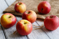 Free Ripe Apples On Shabby Wooden Table Royalty Free Stock Images - 28146789
