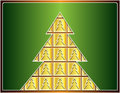 Free Golden Christmas Tree Royalty Free Stock Images - 28149389