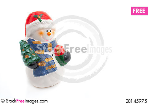 Free Smiling Snowman Figurine Royalty Free Stock Photo - 28145975