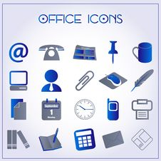 Free Office Icons Royalty Free Stock Photo - 28142465