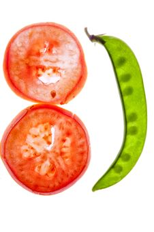 Free Transparent Pea And Tomato Slices Royalty Free Stock Photo - 28142775