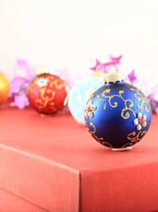 Christmas Colorful Toys Royalty Free Stock Photography