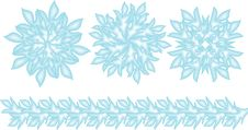 Free Decorative Vector Snowflakes Set Royalty Free Stock Photo - 28144615