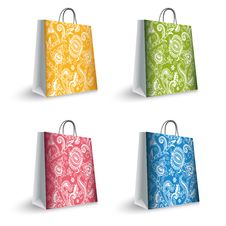 Free Colorful Shopping Bags Royalty Free Stock Images - 28145639