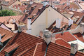 Free Tiled Roofs Of Prague, Czech Republic. Royalty Free Stock Photography - 28151887