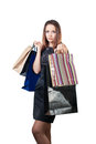 Free Beautiful Woman With Shopping Bag Royalty Free Stock Image - 28152206