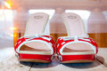 Free Red And White Wedding Shoes Stock Photography - 28152802