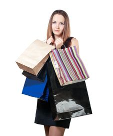 Free Beautiful Woman With Shopping Bag Stock Photos - 28152203
