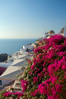 Free Sunset Santorini Island. Stock Photography - 28154722