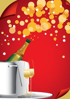 Free Bottle Of Champagne Stock Image - 28159121
