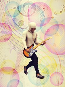 Free Funky Guitarist Stock Photography - 28159382