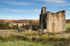 Free Edlingham Viaduct And Castle Royalty Free Stock Images - 28159809