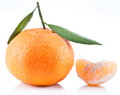 Free Tangerines With Leaves. Royalty Free Stock Photo - 28163575