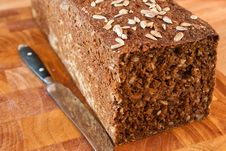 Free Black Bread With Sunflower Seeds Stock Image - 28160641