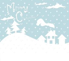 Free Christmas Card Winter Snow Pouring Royalty Free Stock Images - 28160899