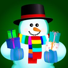 Free Snowball With Gift Stock Photo - 28164000