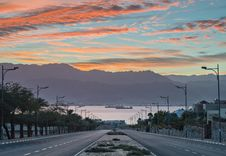 Free Morning View On The Red Sea From Eilat, Israel Stock Photos - 28166473