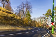 Free Road Through The Autumn Forest Royalty Free Stock Photography - 28166647