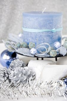 Free Close Up Blue Candle Royalty Free Stock Photo - 28167565