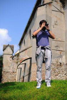 Free Tourist Photographing Ruins Stock Photos - 28169413