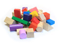 Free Stack Of Colorful Wooden Building Blocks Stock Photo - 28170200