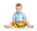 Free Baby Boy Playing With Colorful Toy Royalty Free Stock Photos - 28171888