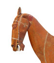 Free Ancient Clay Horse Head Isolated. Royalty Free Stock Image - 28177596