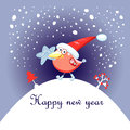 Free Christmas Card With A Bird Royalty Free Stock Images - 28179859