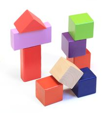 Free Colorful Wooden Building Blocks Royalty Free Stock Photo - 28170195