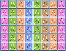 Free Pastel Icons Christmas Trees Royalty Free Stock Photos - 28170328