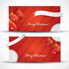 Red Christmas Card With Label