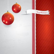 Abstract Christmas Background - Red And White Royalty Free Stock Photo