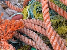 Free Fishing Nets And Ropes Stock Images - 28173374