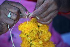 The Flower Seller Stock Photo