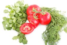 Free Tomatoes And Herbs Stock Photos - 28174773