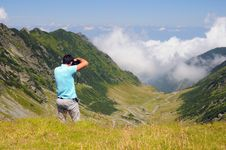 Free Photographer On Mountain Top Royalty Free Stock Image - 28175596