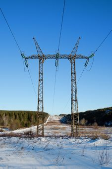 Free Tower Of A  Electric Line Stock Images - 28175644