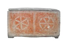Ancient Jewish Stone Coffin Isolated. Royalty Free Stock Photography