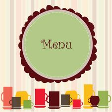 Free Menu Banner Royalty Free Stock Photography - 28178697