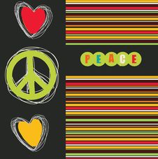 Free Hippie Peace Symbol Stock Image - 28178981