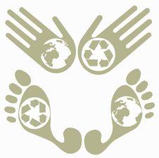 Eco Logos Royalty Free Stock Photos