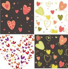 Free Four Images With Hearts Stock Photography - 28179642