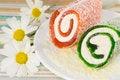 Free Roll Dessert On Coconut Shaving Stock Photo - 28186650
