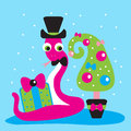 Free Snake,gift,2013,new Year Royalty Free Stock Images - 28186879