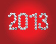 Free Happy New Year 2013! Royalty Free Stock Photos - 28182718