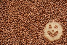 Free Face Coffee Frame Made Of Coffee Beans Stock Image - 28182891