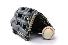 Free Black Baseball Glove Stock Image - 28183181