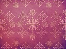 Free Vintage Snowflakes Purple Background Stock Photography - 28183272